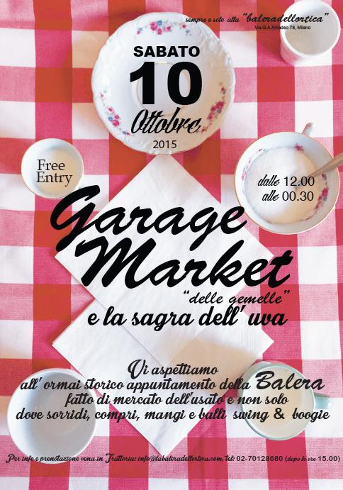 Garage market e la sagra dell'Uva, sabato 10 ottobre