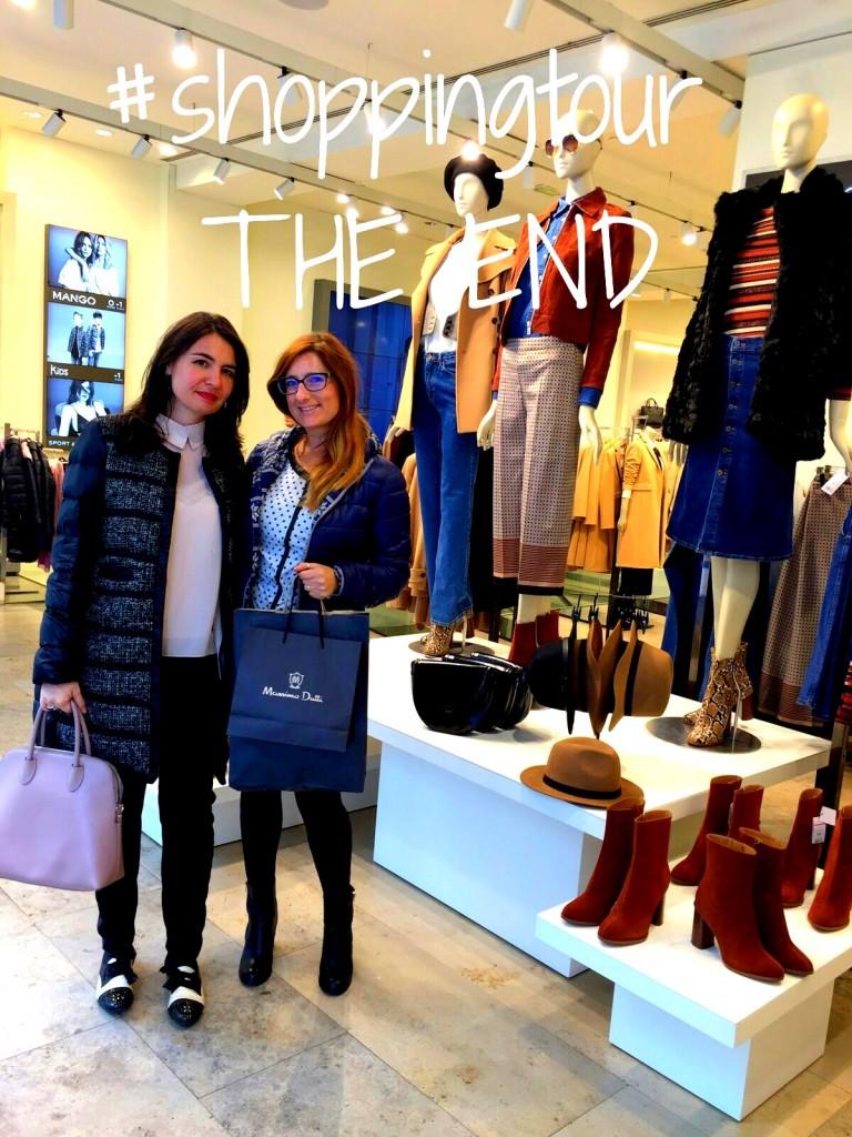 Io e Adele Langella alla fine dello shopping tour