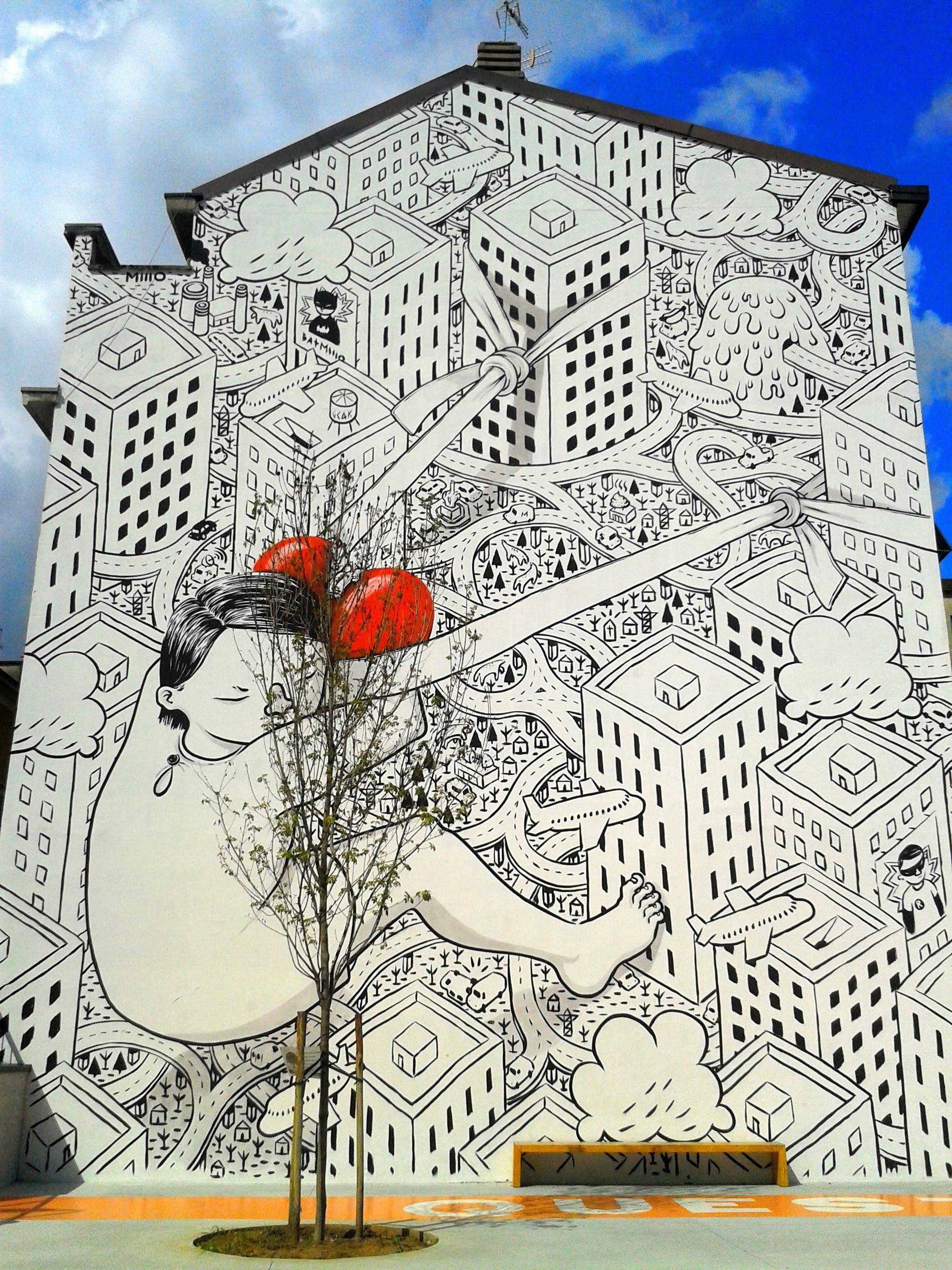 Il murale di Millo - Via Morosini