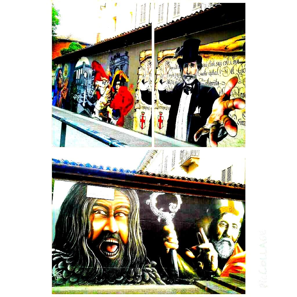 """""""Milano Street History"""", il progetto di street artist che circonda il muro appartenente alla Basilica di San Lorenzo."""
