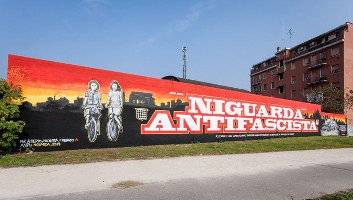 Murale antifascista che ricorda il contributo dei niguardesi alla guerra di liberazione e alcuni suoi caduti - Niguarda - Foto by Niguarda.eu