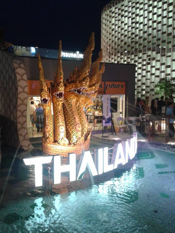 I meravigliosi paesaggi thailandesi, il cibo, il tema dell'agricoltura sono rappresentati da proiezioni video a 360 gradi.