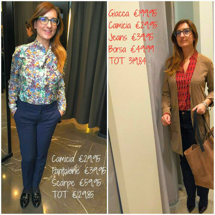 Ecco due dei quattro look per il mio lavoro: a destra outfit by Zara e a sinistra outfit by Mango