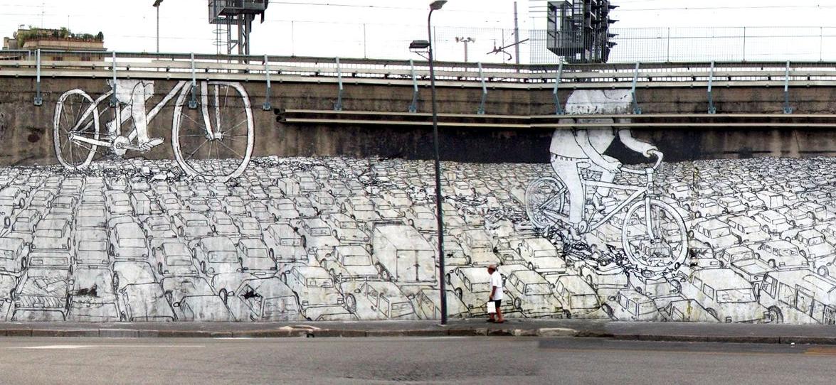 Il murale di Blu vicino la stazione Lambrate - Foto by Milanolife
