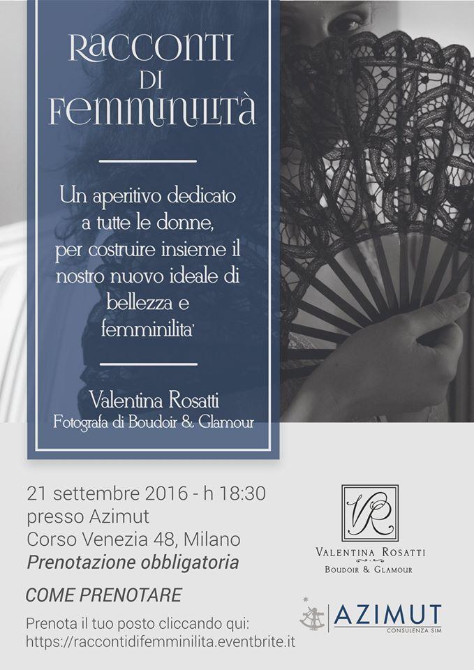 """""""Racconti di Femminlità"""" di Valentina Rosatti - 21 settembre Palazzo Bocconi"""