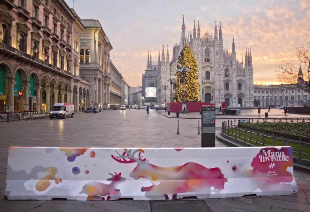 La street art colora le barriere di cemento antiterrorismo