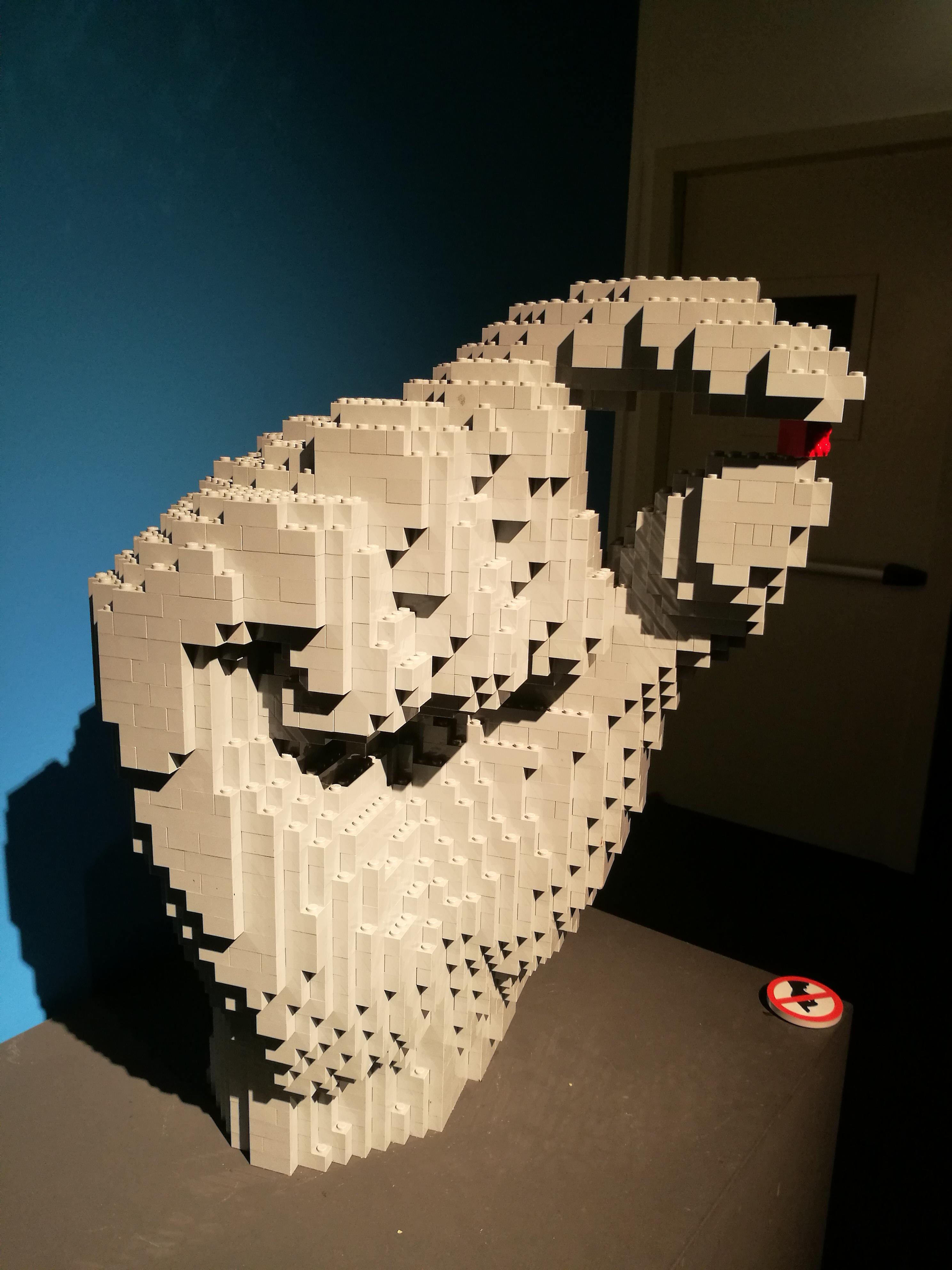 La mostra dei mattoncini Lego