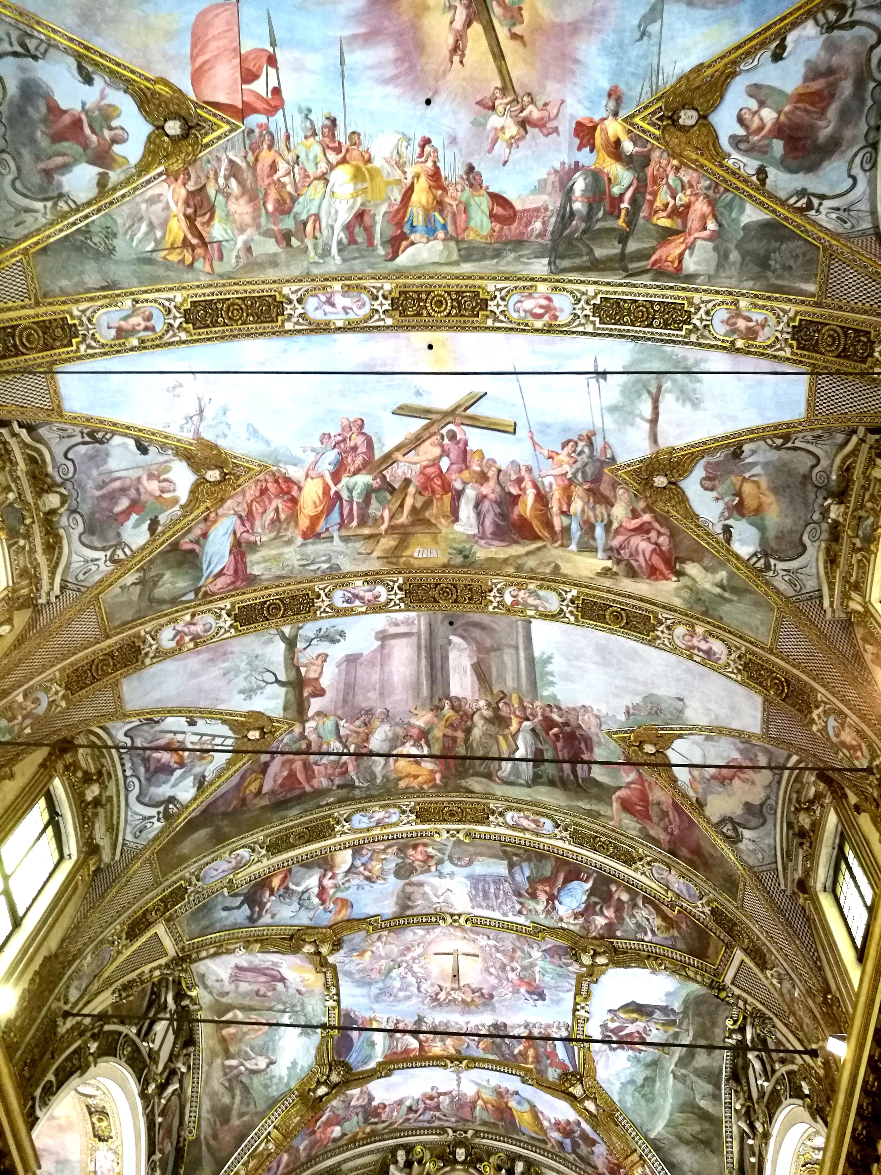 La volta della chiesa di Sant'Antonio Abate