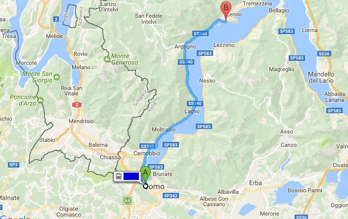Come raggiungere Ossuccio in Bus