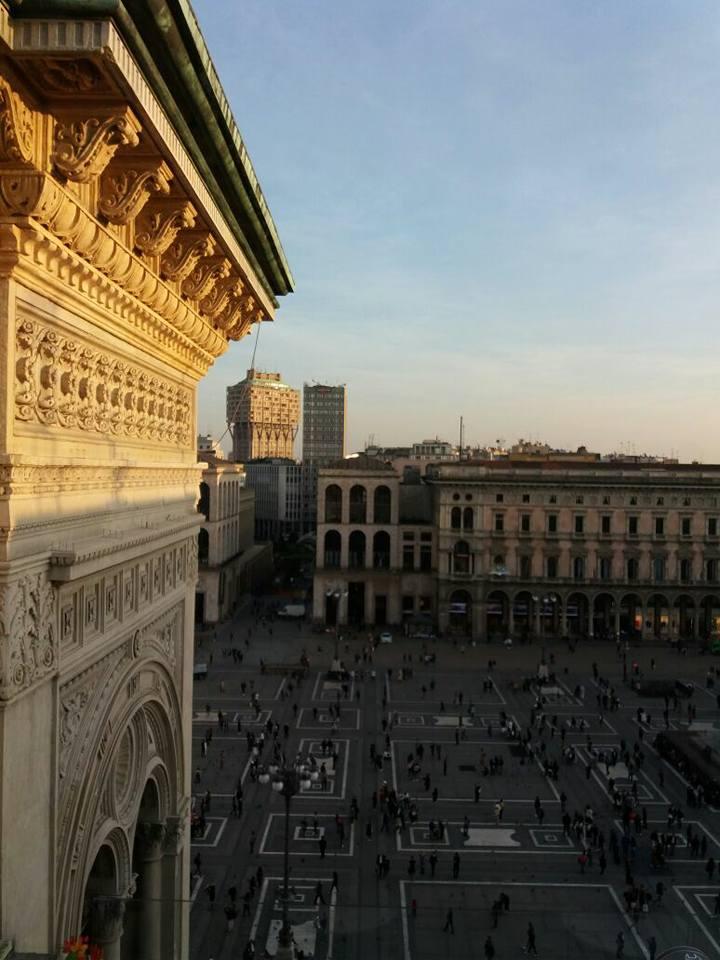 Vista panoramica dai tetti della galleria