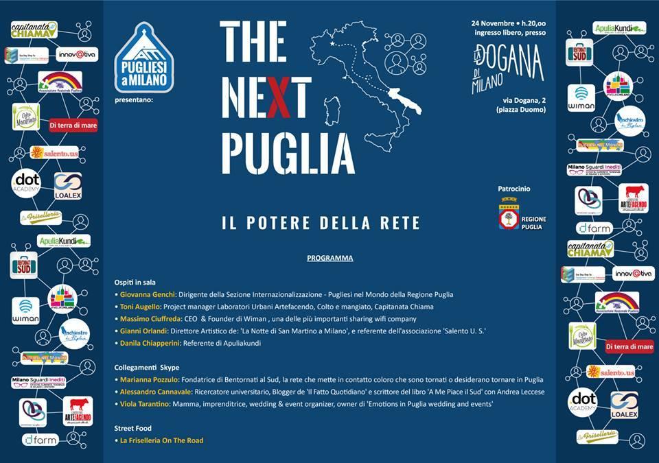 Programma evento The Next Puglia