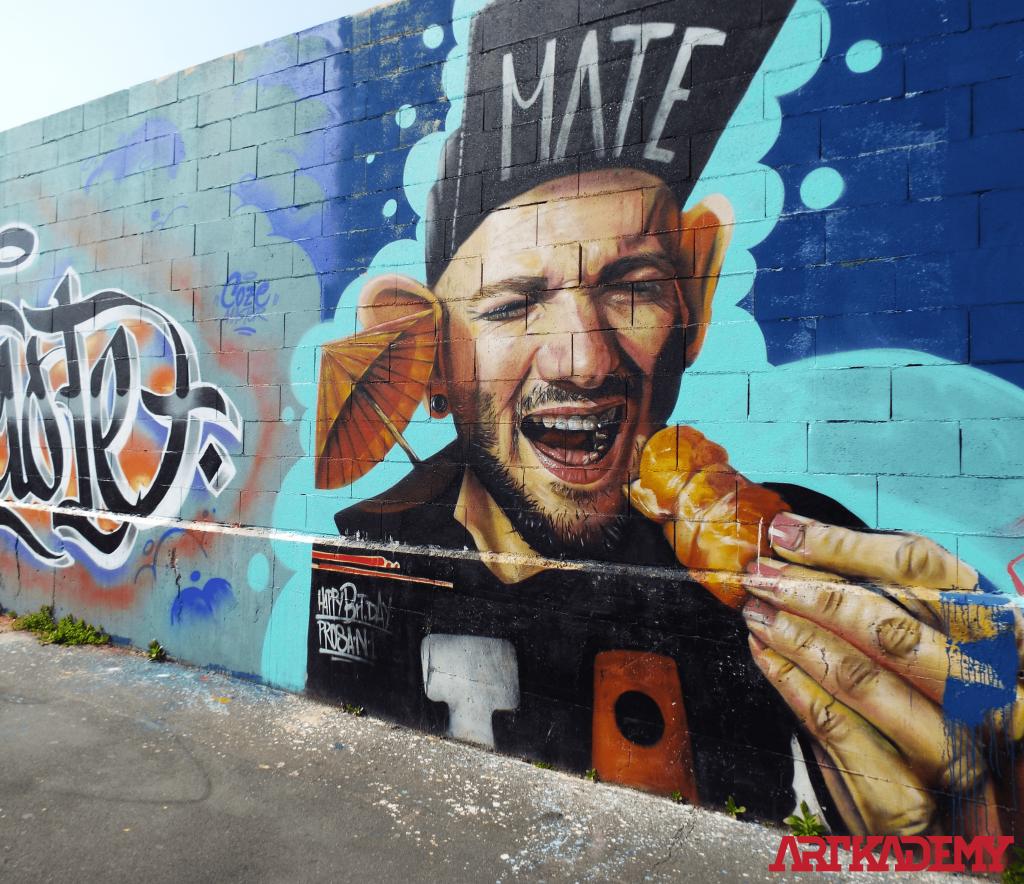 Street art con l'autore artkademy