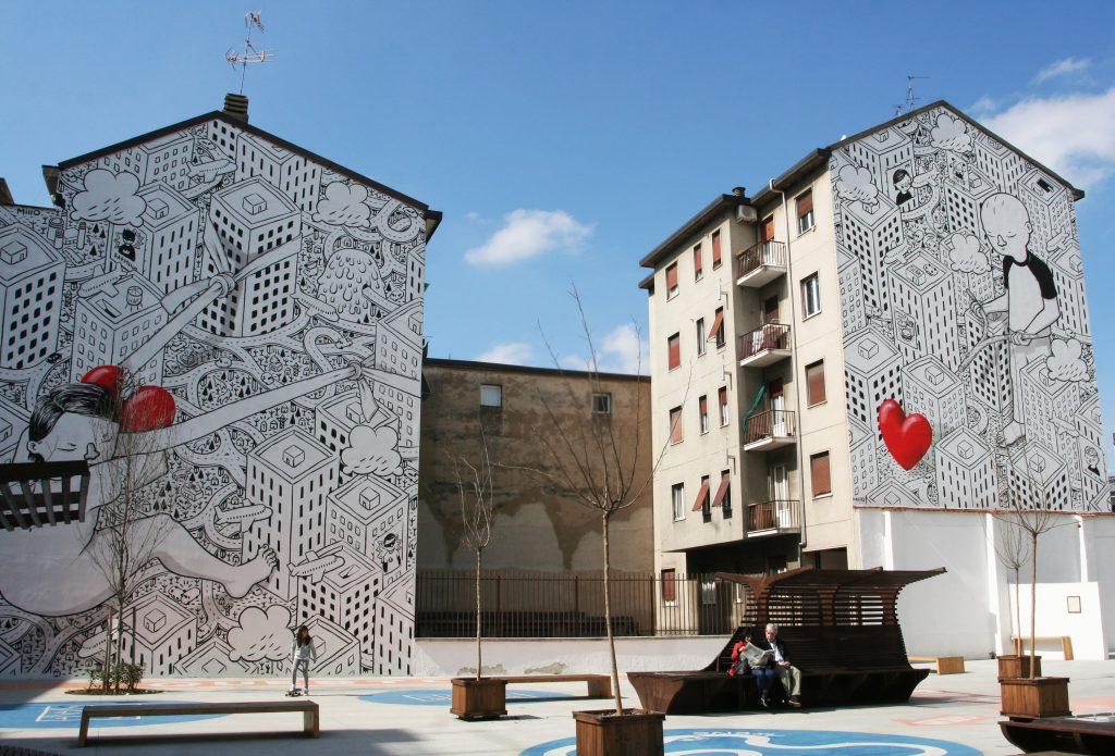 Street art amore milano