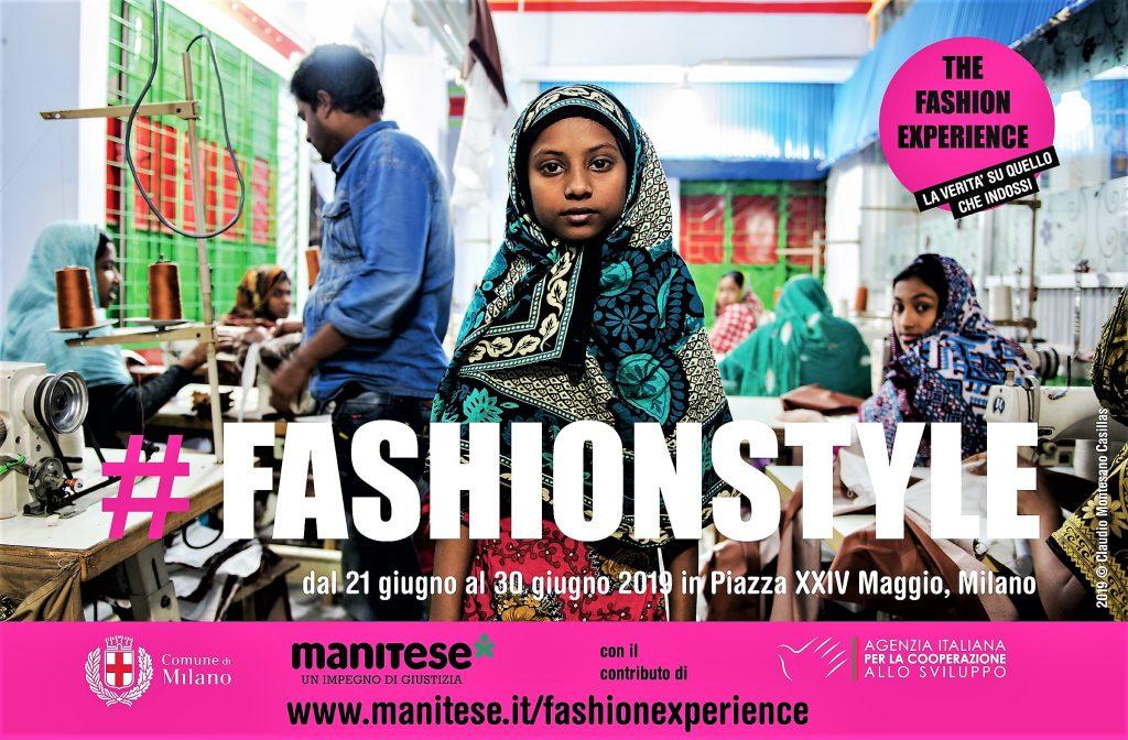 Fashion Experience installazione in piazza XXIV maggio