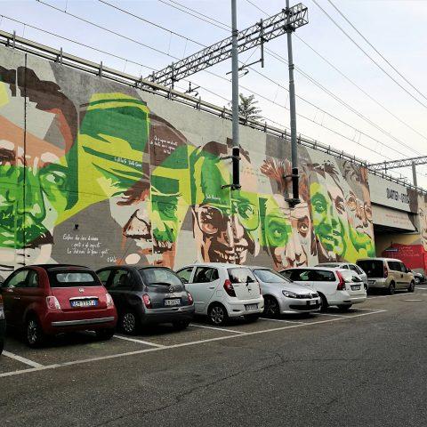 LA STREET ART DEGLI ORTICANOODLES TRA VOLTI ICONICI E NATURA