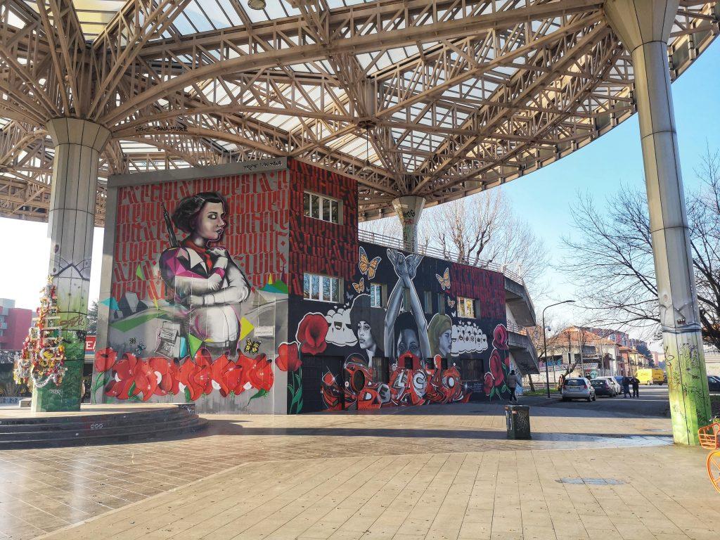 Murale piazzale delle donne partigiane