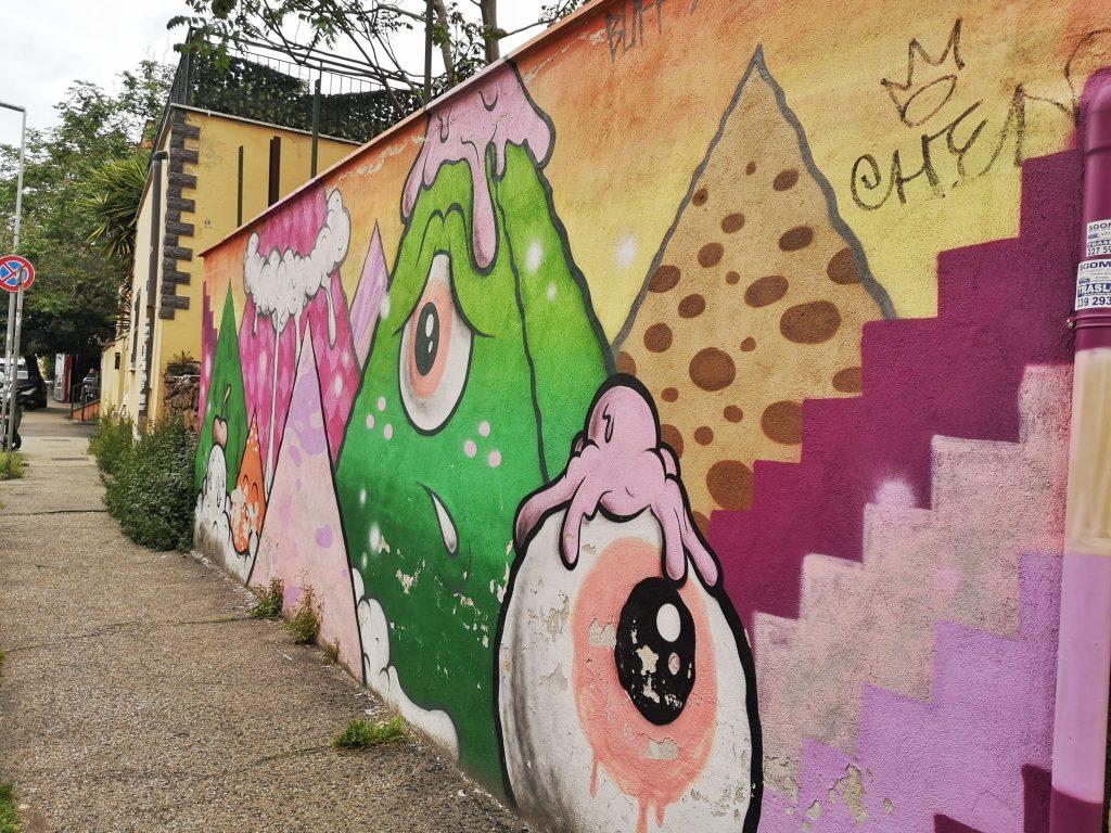 street art quadraro Buff Monster