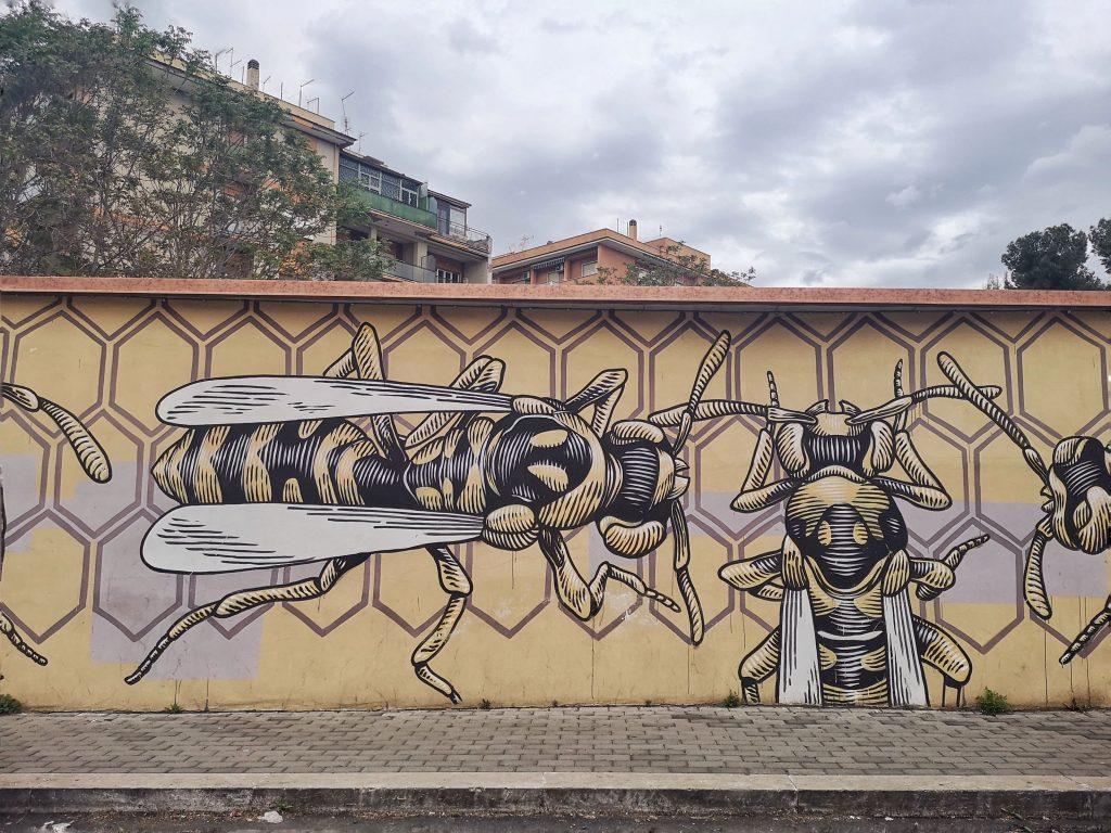 street art roma quadraro Lucamaleonte
