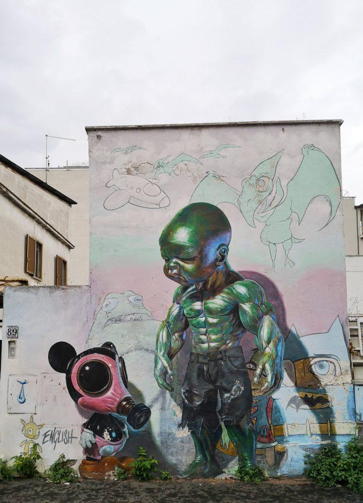 street art roma quadraro Ron English