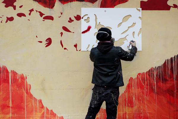 Diavù Street art roma