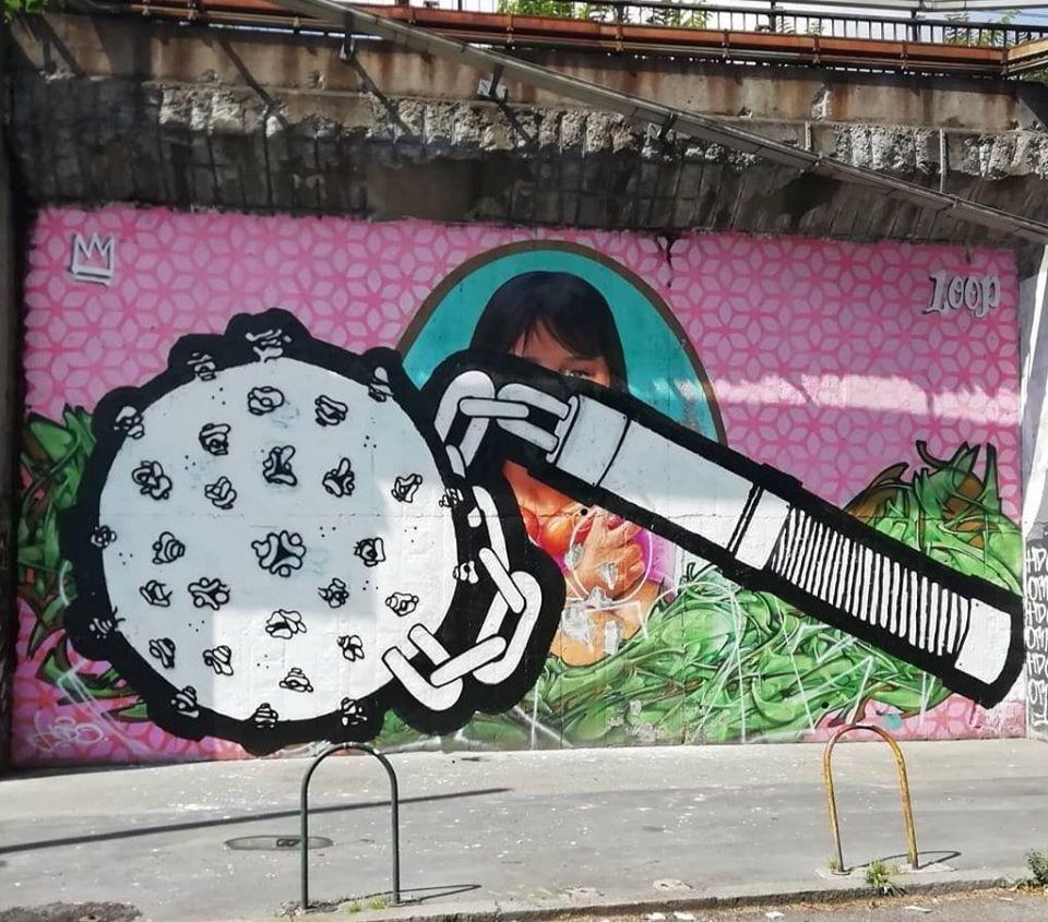 Murale via Padova Santa Clarita vandalizzato