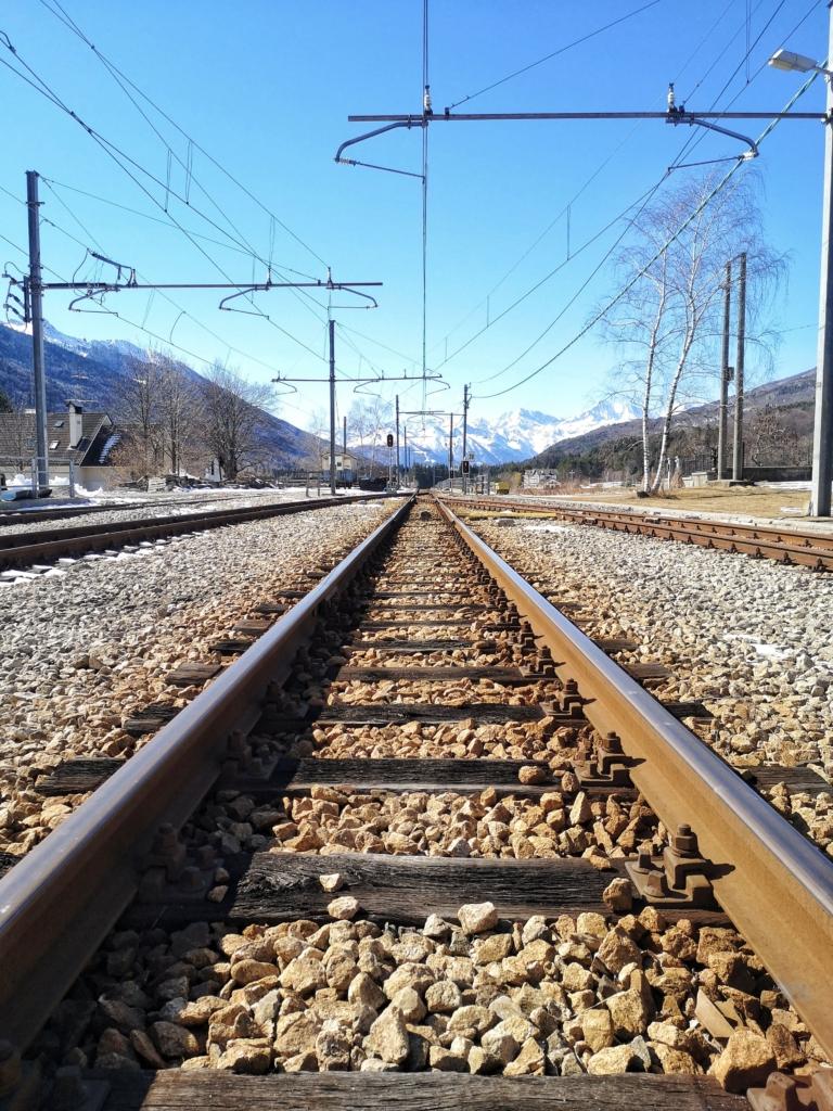Santa Maria Maggiore - I binari della Ferrovia Vigezzina