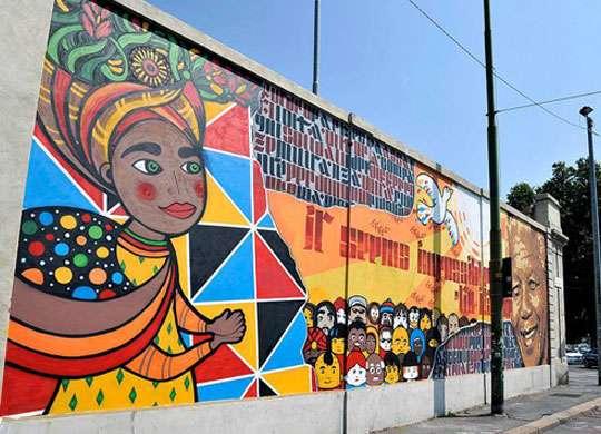 Fabbrica del vapore Murale dedicato a Mandela