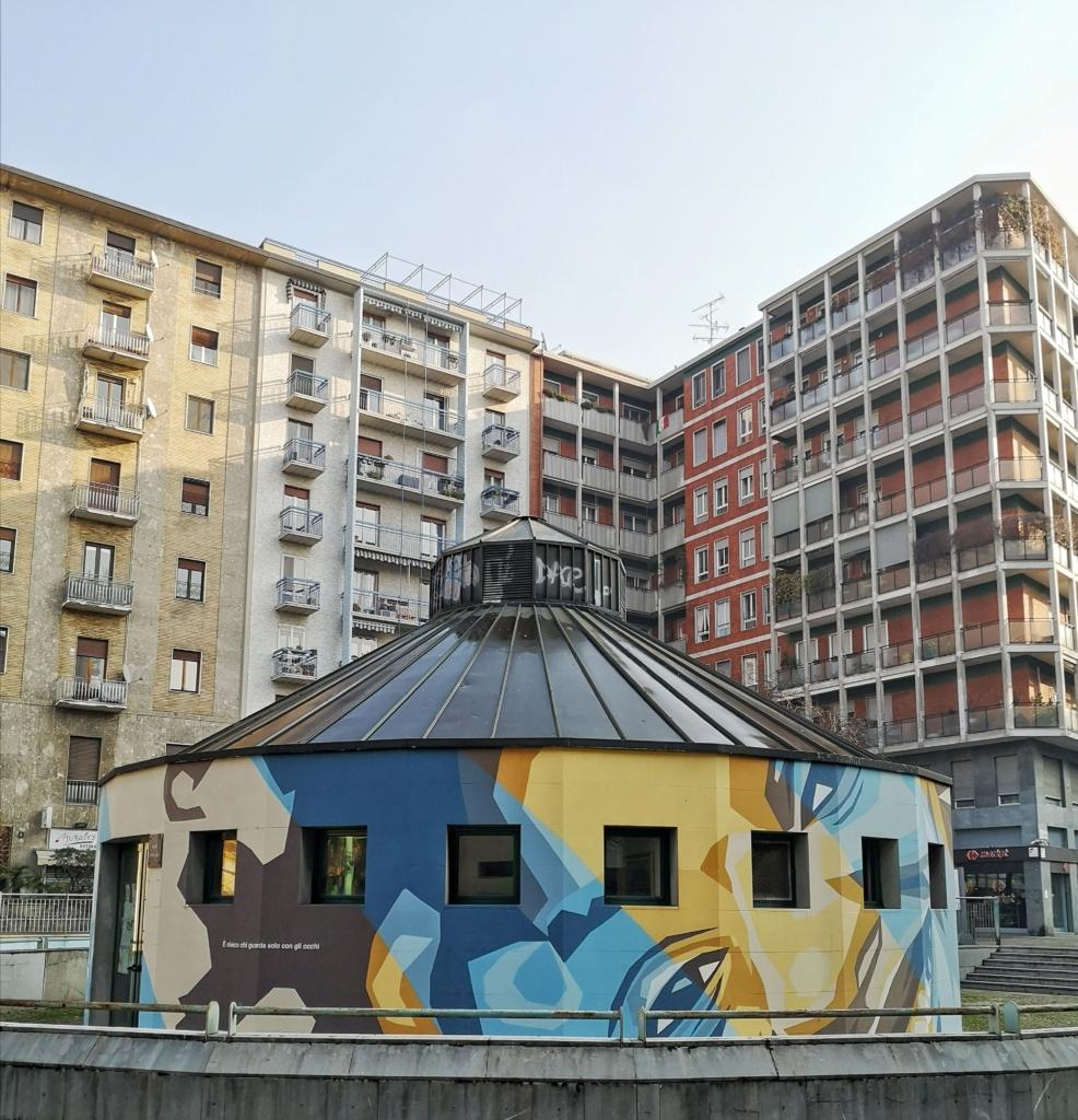 Piazza Gramsci murales Orticanoodles