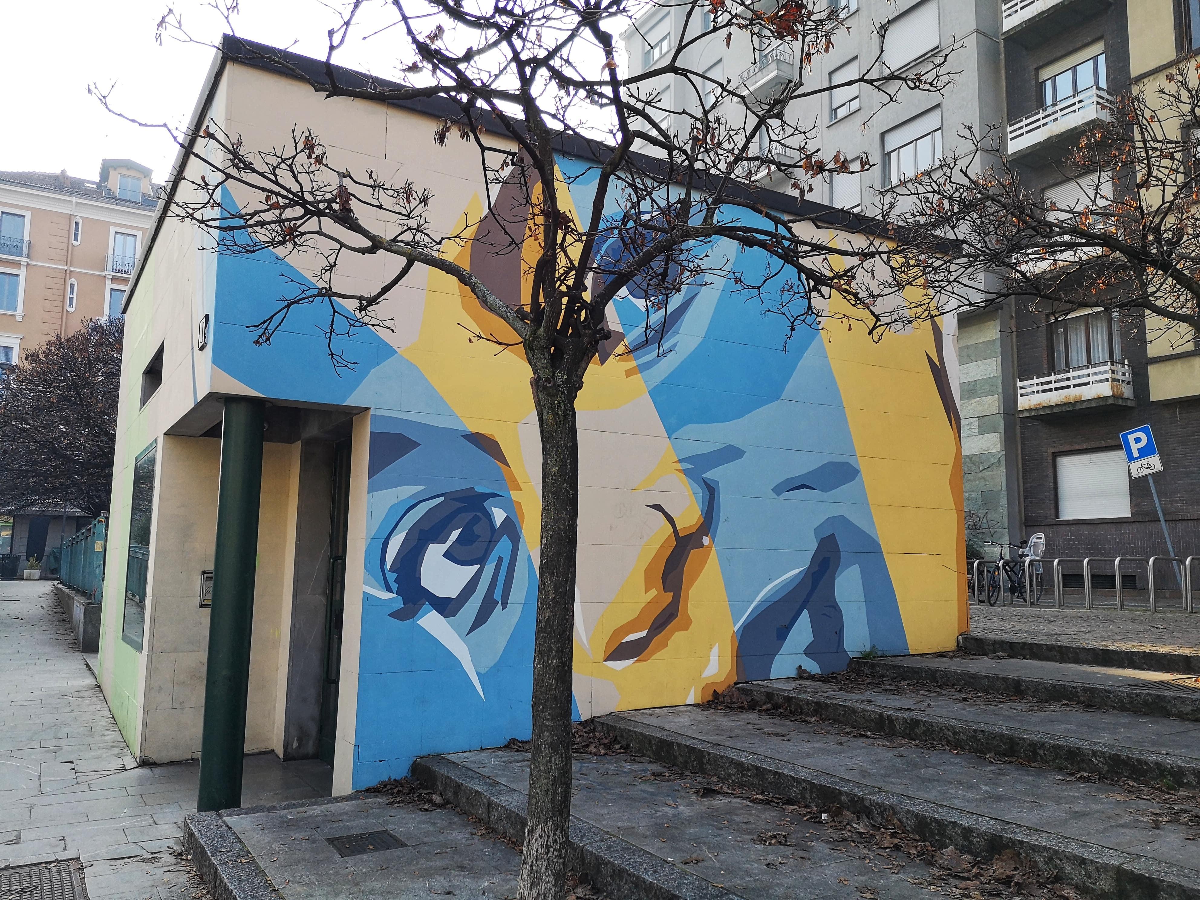 Piazza Gramsci murales di Orticanoodles