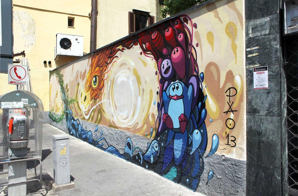 Via Luigi Canonica Pao street art drago