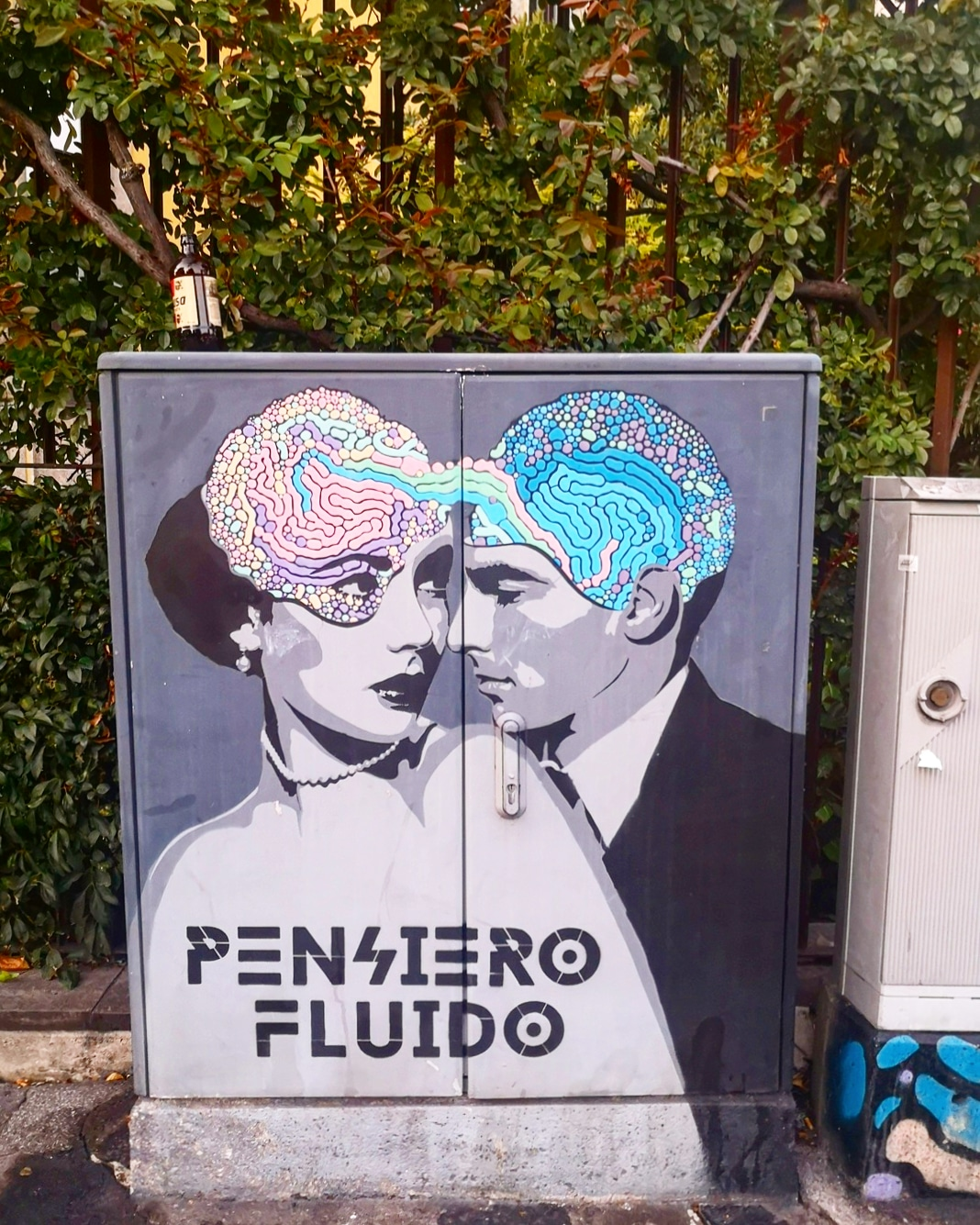 Centralina elettrica decorata street art